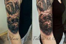 pug tattoo's / Pugs rule, So pug tattoos. ;)