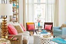 Interior Design / Everything that inspires me about a home. Lots of splashy color, great texture, and diversity / by Spunky Sapphire Events