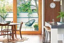 I n t e r i o r s / the use of space, furniture and finishes