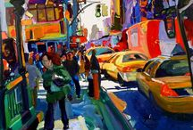 Tom Christopher Artist of NYC / A wonderful painter of a vibrant city / by Robert Hewitt
