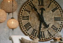 Decorate with CLOCKS / Are you struggling with a big space to decorate? How about a big clock face above the fireplace mantle or even over your master bed? For a big faced one for your home go to www.ken@clocked.ca / by K Sssss