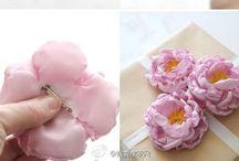 Çiçekler / Kurdeleden çiçek