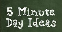 5 Minute Day Ideas / Ideas to use for  days when I see each student for 5 minutes while the rest of the group is working independently.