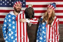 Patriotic Apparel / Celebrating freedom is something you can do throughout the year! And lucky you that we make American flag clothing for all seasons.  http://www.tipsyelves.com/american-flag-clothing