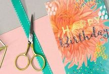 Birthday Cards / Birthday Celebration cards, wrapping paper, DIY and ideas
