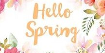 Hello Spring / Summer is coming, inspiration, color and greeting cards