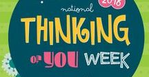 National Thinking Of You Week 2018 / Yes! It's that time of the year again: Thinking of You Week is coming up! Our National wave of happiness around the world. Send a card to a friend, a relative or a family member, just because you care and are thinking about them. Sometimes a paper hug is all you can give, and it does make a difference! #sendacard #raiseasmile #thinkingofyou  Together we make the world a more a more thoughtful and caring place