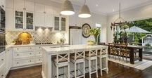 Kitchen Inspiration / kitchen renovation ideas, benchtop and cabinetry ideas, kitchen lighting, kitchen layout