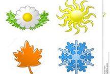 roční období - jaro-léto-podzim-zima -
