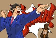 Professor Layton & Phoenix Wright / Here you will find interesting images of Prof. Layton and Phoenix Wright! (funny, gifs, images, etc) :3