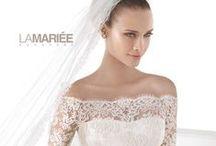 Celandia - Atelier Pronovias 2015 kollekció / Mesés hercegnős csipke és szatén esküvői ruha a 2015-ös Atelier Pronovias kollekcióból