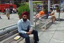 Beings of Boston / Beings in boston relaxing and enjoying their lunch or dinner  in our beautiful city