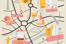 illustrated & graphic maps // / since i was a child i've found maps utterly fascinating. now, as an adult, and as an illustrator i love browsing illustrated maps & guides.