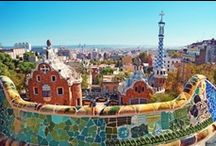 Park Güell, by Gaudí / A garden complex with architectural elements situated on the hill of El Carmel, in Barcelona. It was designed by the Catalan architect Antoni Gaudí and built in the years 1900 to 1914.