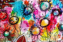 Art Journaling / I am so looking forward to trying art journalling, in the meantime, here's some of my inspiration.