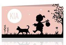 Jakima geboortekaartjes / Geboortekaartjes in vrolijke kleuren, kaartjes voor een jongen, meisje, zusje broertje, derde kind of tweeling.