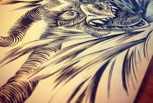 My sketches / Illustrations made with ink-brush pen and digital too. #illustration #art #beast #giant #digital #tattoo