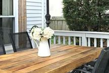 Porch & Patio Ideas / Whether you dream of a wraparound porch on your someday house or your goal is to figure out how to beautify and enjoy the patio you already have, this board's for you (rocking chair and/or hammock not included)!