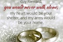 WEDDINGS --TILL DEATH DO US PART / .THEREFORE WHAT GOD HAS JOINED TOGETHER, LET   MAN NOT SEPARATE: MATTHEW 19:6 (NIV)