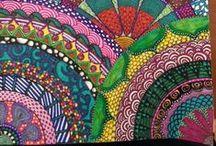 Zentangle, Fractal and Mandala