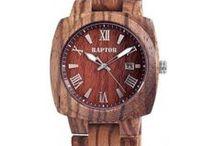 Holzuhren für Damen und Herren / Modische Holzuhren in verschiedenen Farben und Formmen für Damen und Herren.