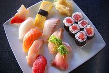SUSHI / JAPANESE TRADITIONAL DISH. HMM, YUMMY I LOVE IT. / by nellie lacanaria viloria