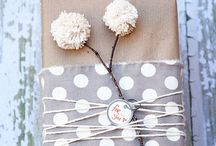 Inspiration for wrapping presents / Wrapping paper inn many different ways. Diy ideas.