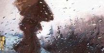 It rains and rains ☁️☔☔⚡☂️☂️