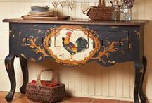 Vintage furniture / I tend to paint everything except the exceptional. There are just so many great ideas here to inspire.