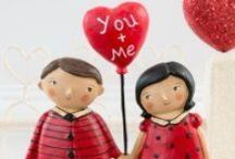 Valentine's Day Decorations / Cute vintage and folk art decorations for Valentine's Day.