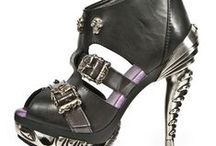 Women's Shoes / Amazing women's alternative, metal, steampunk and gothic inspired shoes, available through Macabre Couture.