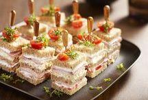 Lekkere brood-borrelhapjes / Heerlijke kleine gerechtjes om te serveren bij de borrel of een verjaardag