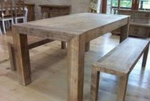 Reclaimed Elm Dining / Fabulous and very stylish, high-end, reclaimed elm dining furniture consisting of benches and beautiful French style furniture too. This section displays our range of reclaimed elm dining furniture, including chunky farmhouse tables, elegant pedestal tables, and dining sets.