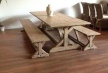 Reclaimed Pine Dining / Our new range of reclaimed pine dining sets combine rustic hard-wearing pieces, with contemporary style. The perfect addition to your kitchen or dining room.