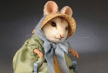 Felted mice / Even though they are mice, you have to admit they are so darn cute.
