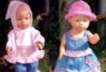 Schnittmuster für Puppenkleidung / Schnittmuster für Puppenkleidung in verschiedenen Größen zum Kaufen