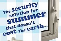Summer Holiday Security / Going away or staying at home this summer?  We have all the help to keep you and your home secure, without having to spend lots of money!