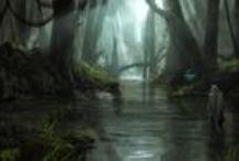 Concept art / digital photoshop science fiction fantasy concept art