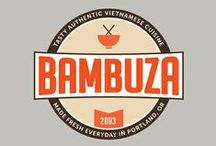 Bambuza Mood Board / This mood board was apart of my process in creating the overall branding development for Bambuza Vietnamese Bistro in Portland, OR.