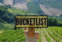 BUCKET-LIST! / Our bucket-list!