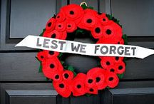 Remembrance Day / A board dedicated to Remembrance Day, Canada. Lest we Forget