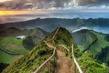 THE AZORES! / We visited the Azores this year. They are beautiful Islands which are part of Portugal but live in the middle of the ocean (2 hours flight from Lisbon). They are volcanic so have some gorgeous mountains/volcanoes/hot springs. We saw dolphins and whales there - it was amazing!!! When are you headed there?