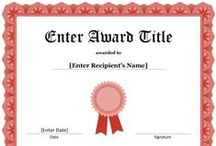 Certificate Templates at AwardCorner.com / Free award certificate templates for Microsoft Word. The certificates are editable and include graphics of borders, ribbons, and seals.