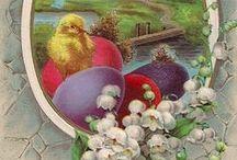 vintage postcard Velikonoce