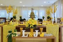 Chá Bar - decoração criativa em tons de amarelo / Inspirações e idéias parachá de cozinha e chá bar