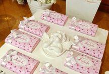 Batizado em rosa e branco