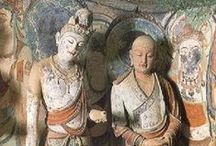 Mogao Caves / The Mogao Caves (Caves of the Thousand Buddhas, or the Caves of Dunhuang) are an intricate complex of Buddhist temples inside caves near the city of Dunhuang inGansu province,China.