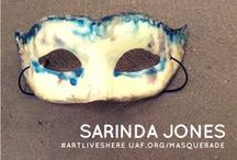 2015 Utah Arts Festival Masquerade Party / Stop by the Utah Arts Festival Gallery from Jan 16 through Feb 13 and find a mask created by local artists for the annual Masquerade Party on February 21, 2015. Visit uaf.org/masquerade for details. #masks #masquerade #artliveshere