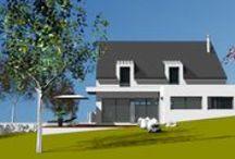 Modernes(2PansArdoises) / Toitures à 2 pans Couverture Ardoises