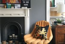 Liznylon's Edinburgh flat / We've completed a massive renovation our Victorian flat! It's full of deep dark sultry walls, pops of colour, some mid century touches, and some industrial accents too. Let's just say it's eclectic. Now we are slowly tackling all the fun decorating & styling projects - watch this space